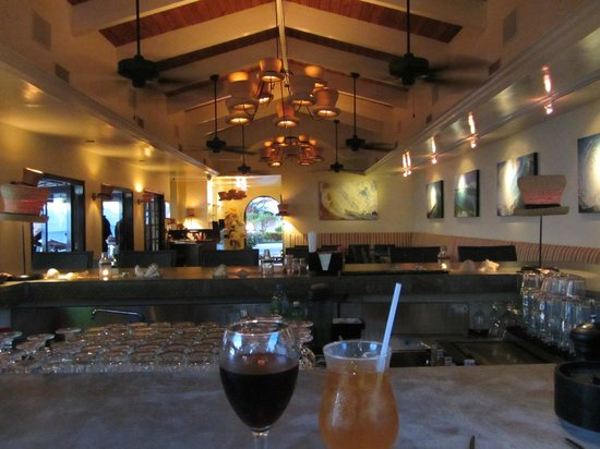 West End Village, Anguilla : Looking inside the bar from outside bar seating...