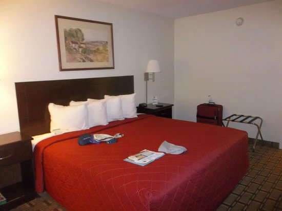 Howard Johnson Inn Orlando International Drive: The bed and all its pillows