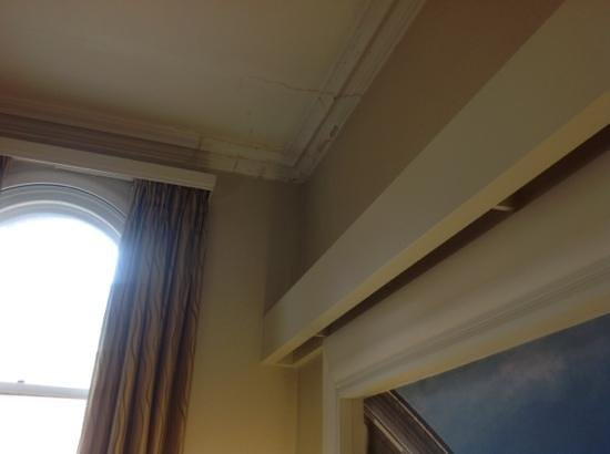 The Midland: ceiling above bed needs repair