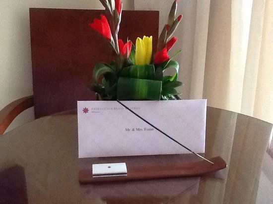 Excellence Playa Mujeres: Excellence Club -  Welcome letter and flowers