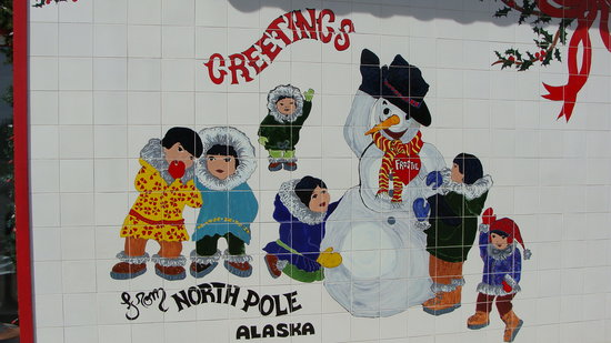 ‪‪North Pole‬, ‪Alaska‬: Painting on Santa Claus House‬