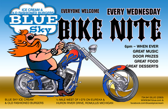 Romulus, MI: Bike Night on Wednesday as long as weather permitts