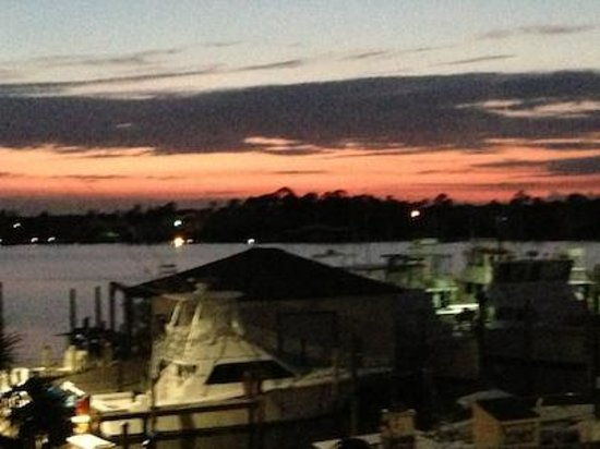 Perdido Key, Флорида: From dining deck at sundown