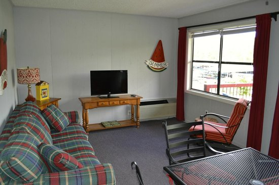 Hiawassee, GA: Waterfront Suites living room