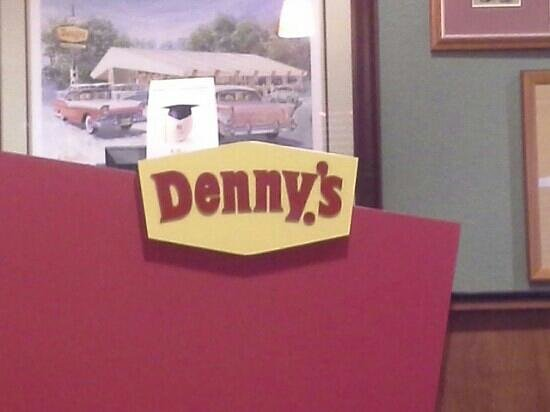Riverside, CA: Denny's Sign
