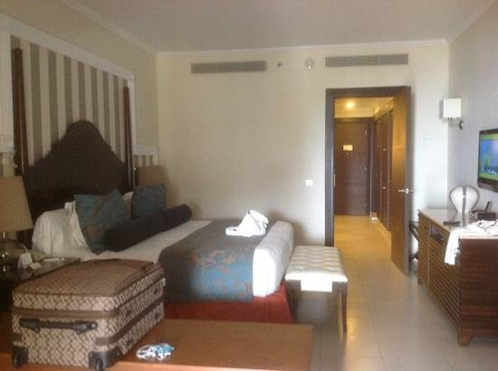 Iberostar Grand Rose Hall: suite with all the right stuff including a mini bar.