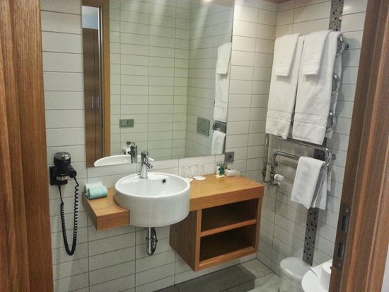 Icelandair Hotel in Keflavik: Room 220 bathroom