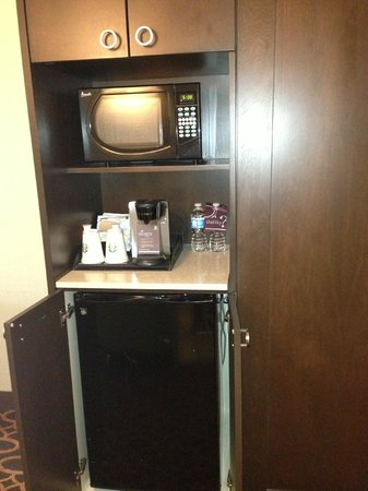 Sheraton Ann Arbor Hotel: Coffee pot, microwave, mini fridge