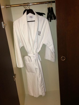 Sheraton Ann Arbor Hotel: Robe provided in club floor room