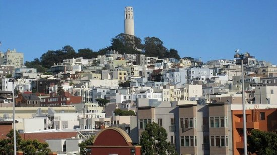BEST WESTERN PLUS Tuscan Inn at Fisherman's Wharf: View from room #419 - Coit Tower on Telegraph Hill