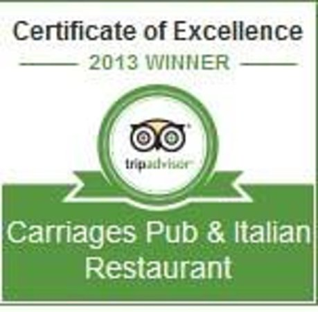 Buxton, UK : Certificate of Excellence from TripAdvisor