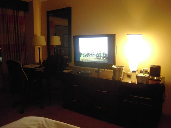 Hilton Baltimore: Room and TV