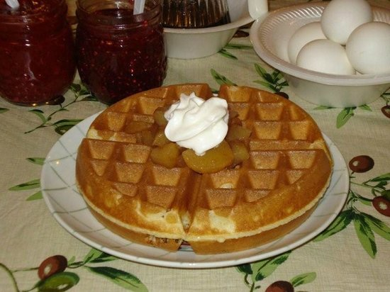 Tok, AK: Our famous homemade Belgian waffles with toppings
