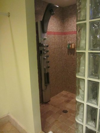 Frangipani Beach Resort: Big walk-in shower