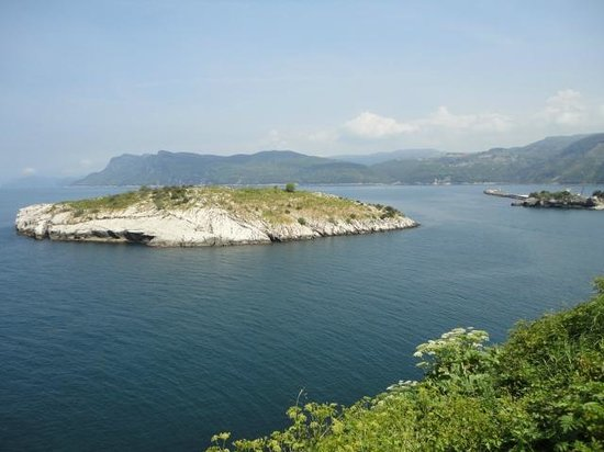 Amasra, view from the castle - The Rabbits Island ...