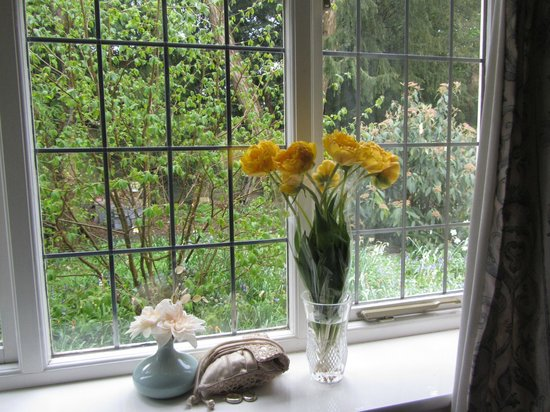Manor Close B & B: We like flowers - always flowers