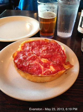 Evanston, IL: Individual serving - pepperoni deep dish pizza