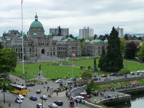 "The Fairmont Empress: View from the ""turret"" room, loved it."
