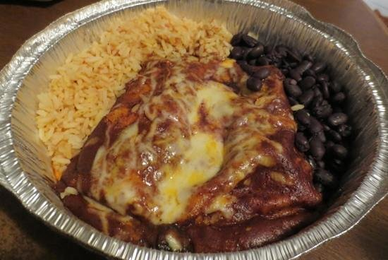 Greenfield, MA: Steak enchiladas to go