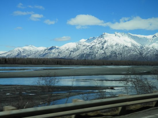 Knik River Lodge: Drive view
