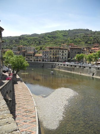 Italian Riviera, Italy: The river at Dolceacqua