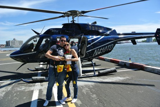 Rob And Stacey After Helicopter Ride  Picture Of New York City New York  T