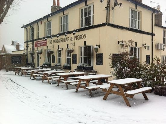 Staines, UK: in the snow