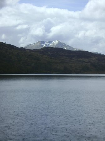 Loch Lomond and The Trossachs National Park, UK: If it's May, and it .. looks like snow .. then it must be Scotland!