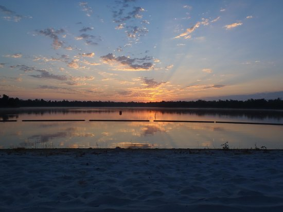 Cypress Cove Nudist Resort: Sunrise at the lake