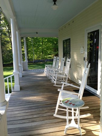 Bridgton, Μέιν: Great front porch
