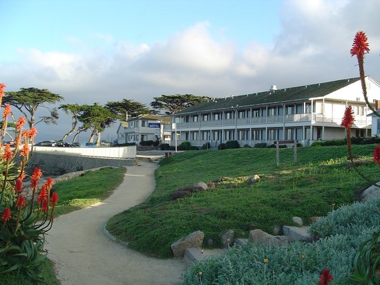 Borg's Ocean Front Motel: Directly across the street from Monterey Bay at Lover's Point
