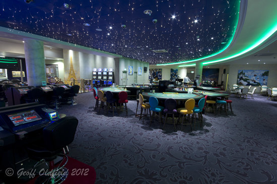 Seating area overlooking the Bar and Gaming Floor ...
