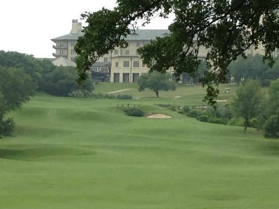 Barton Creek Resort & Spa: View of the 18th hole
