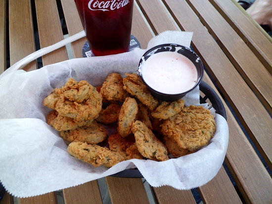 Muncie, IN: Deep fried pickles. Really really good