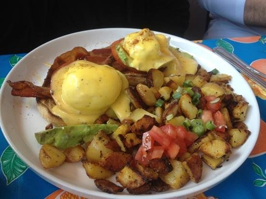 San Rafael, CA: One of the eggs Benedict options. So tasty!
