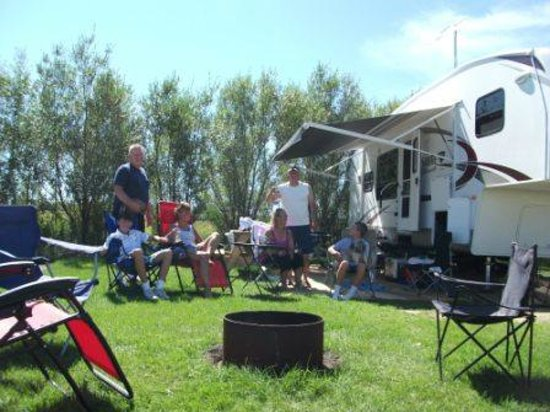 Summerland Leisure Park  RV Park: Spacious campsite  fire pits too!