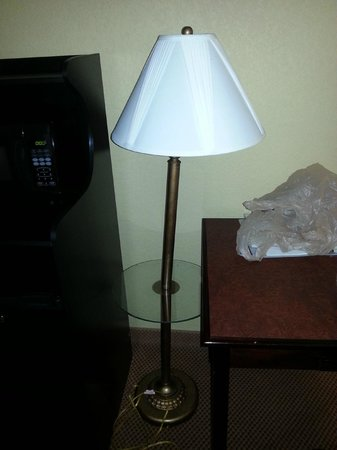 Country Inn & Suites Hot Springs: broken lamp