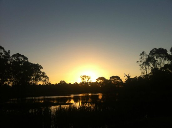 Manzanilla Ridge: Sunset over the pond