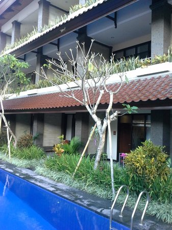Ari Putri Hotel: Our room from pool