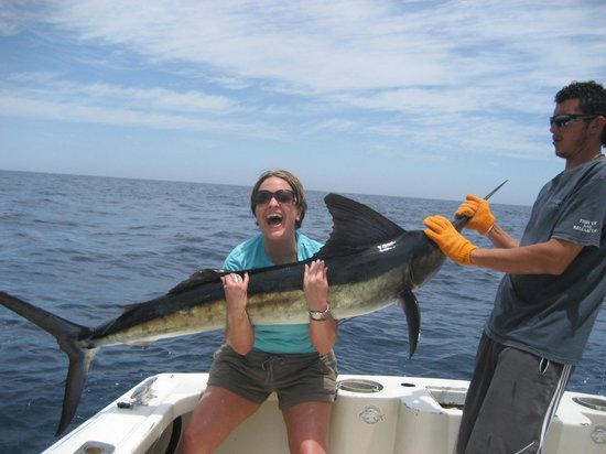 Melanie 39 s first marlin awesome picture of pisces for Pisces fishing cabo