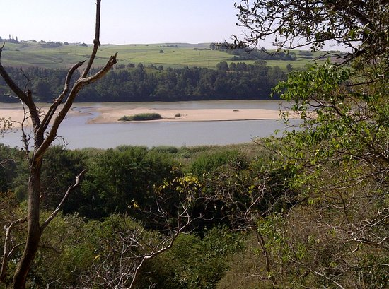 Stanger, Afrika Selatan: View of the Tugela River from one of the higher points on the trail