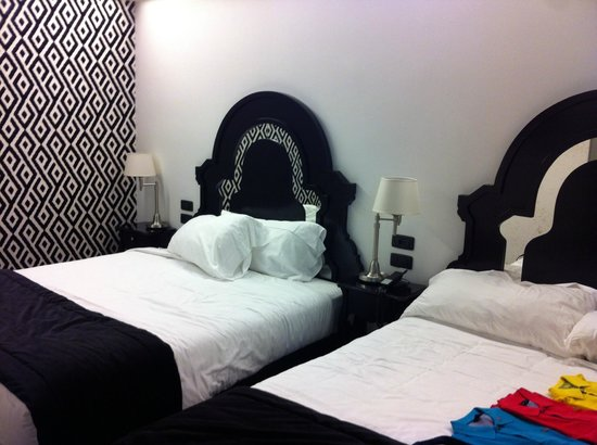 Double beds at wow room foto di g boutique hotel for Boutique hotel vicenza