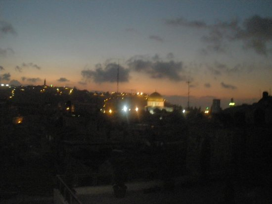 Hashimi Hotel and Hostel: View from balcony during evening