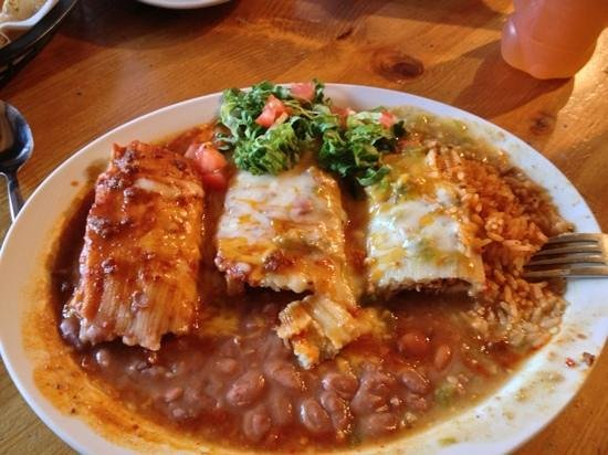 Ranchos De Taos, NM: Three Tamale Plate