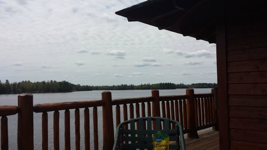 Manitowish Waters, WI: View from balcony in Lily Pad Upper