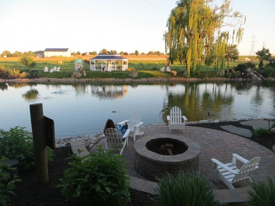 Fulton Steamboat Inn: The fish/duck pond right outside the hotel
