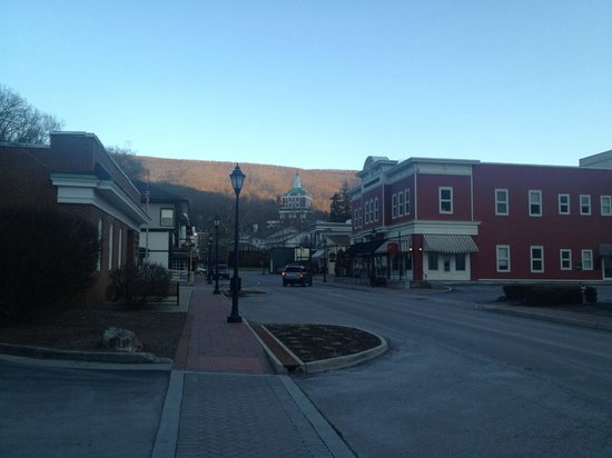 A view of the resort from quaint Hot Springs, VA.