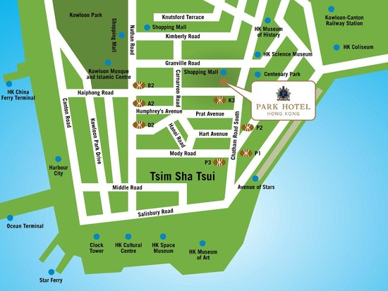 Park Hotel Hong Kong: Location Map
