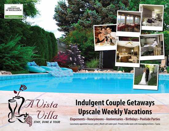 A Vista Villa B & B: Indulgent Couple Getaways
