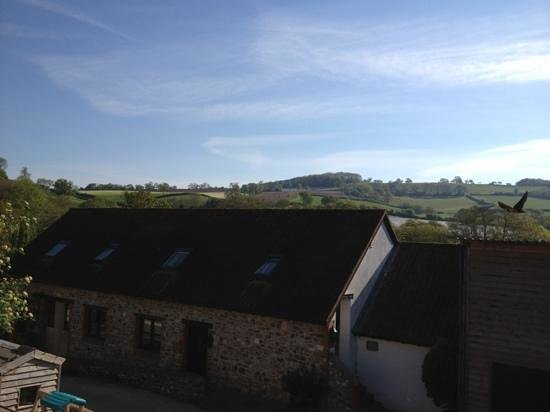 Colyton, UK: morning view from our room